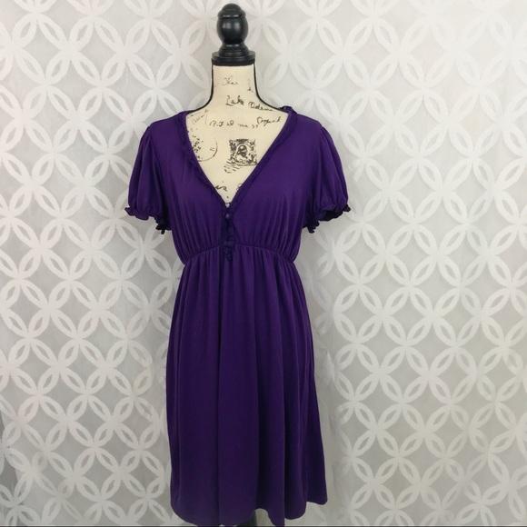 🍁Yummy Plus Babydoll Purple Tunic Dress